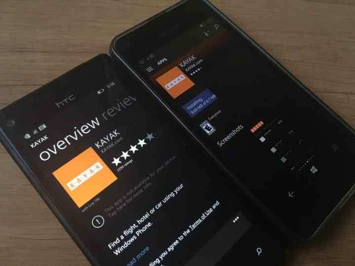 You can no longer download the app from a Windows Phone 8.1 handset.