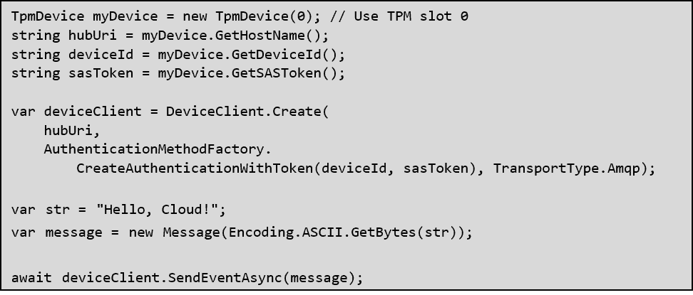 DeviceClient.Create code