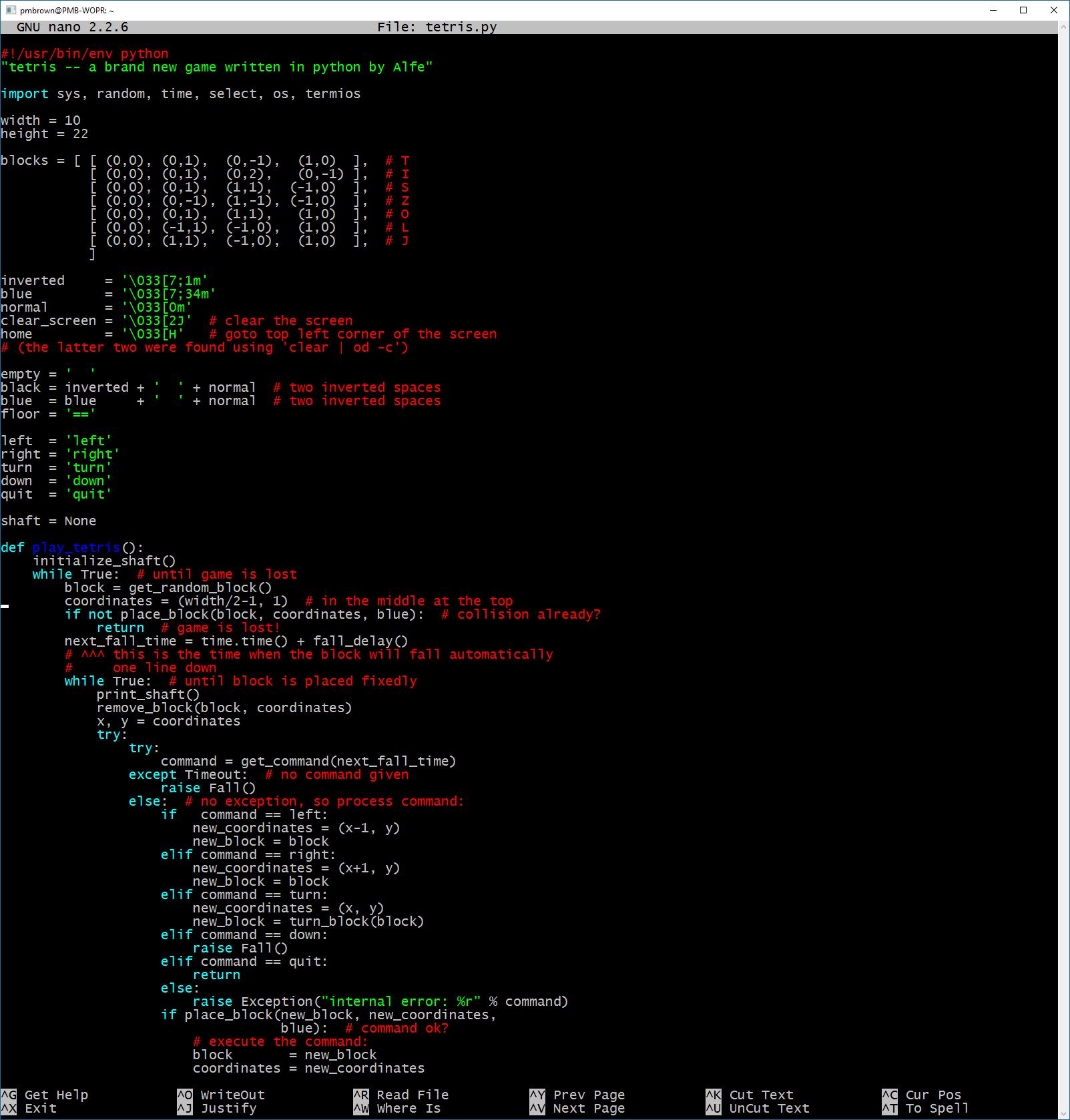 275 lines of Python code