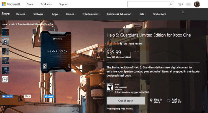 Halo 5 Guardians Limited Edition Deal