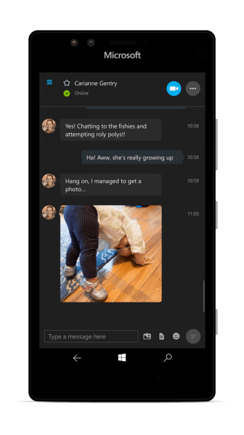 Skype Preview for Windows 10 Mobile Messaging