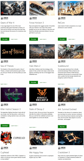 The 12 Microsoft Studios games in the Xbox Play Anywhere program.