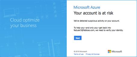 Azure AD Identity Protection login