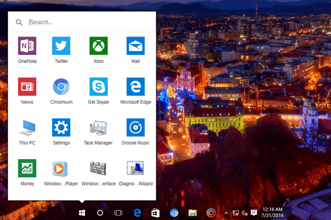 """The """"Minimal icons launcher""""."""