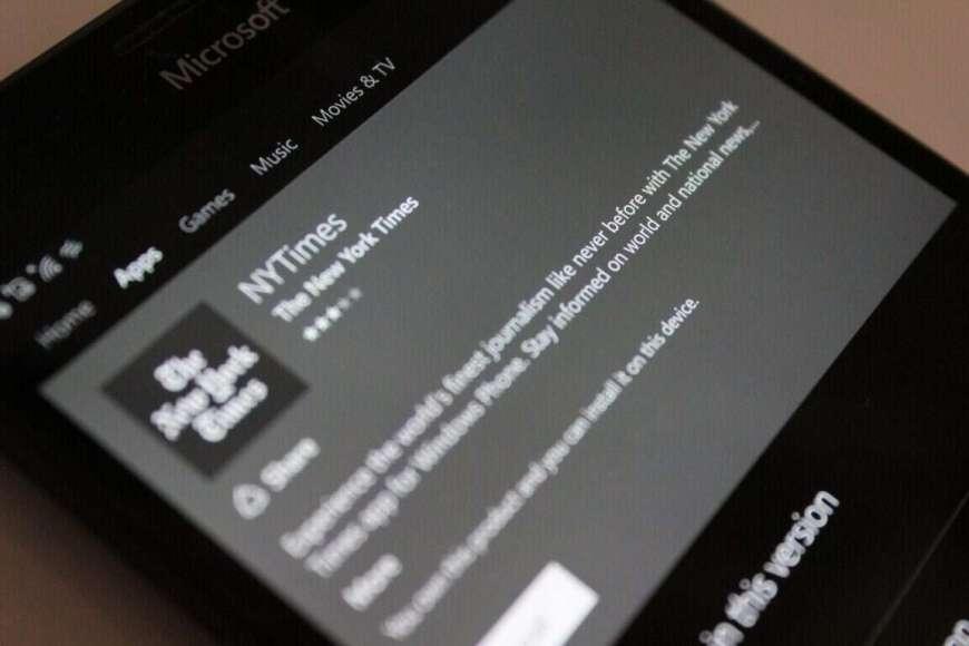 New york Times Windows Phone