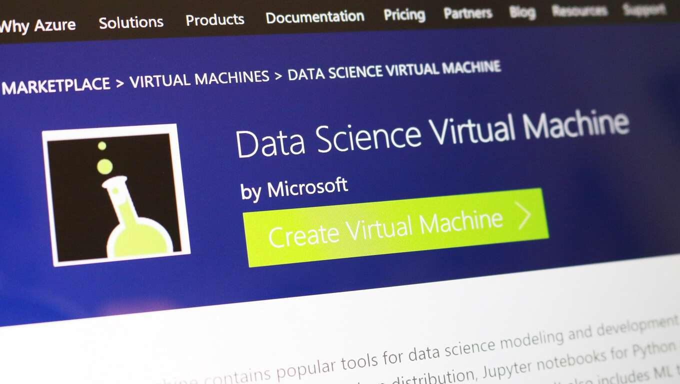 data science virutal machine azure