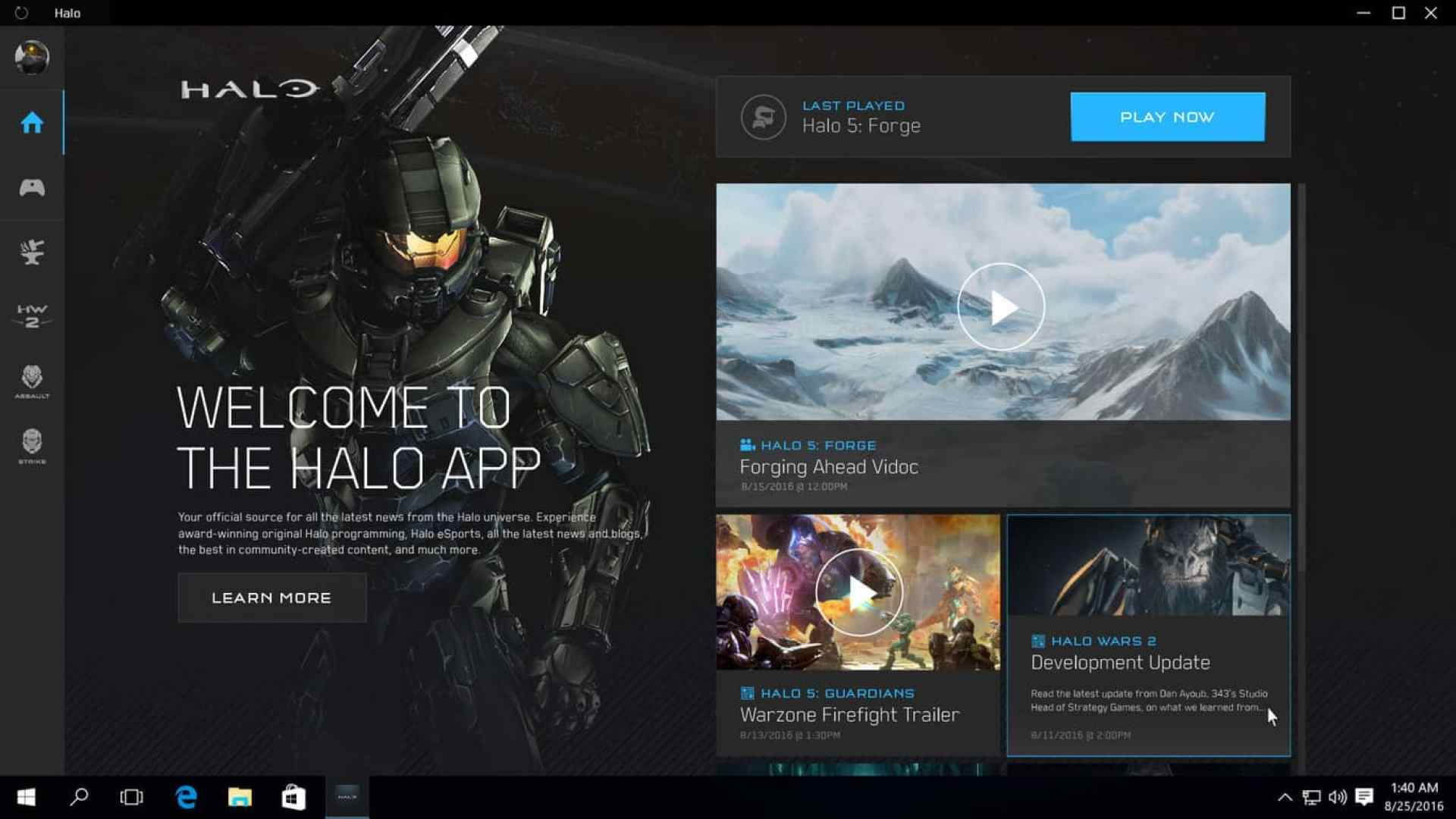 Halo, Windows 10, app