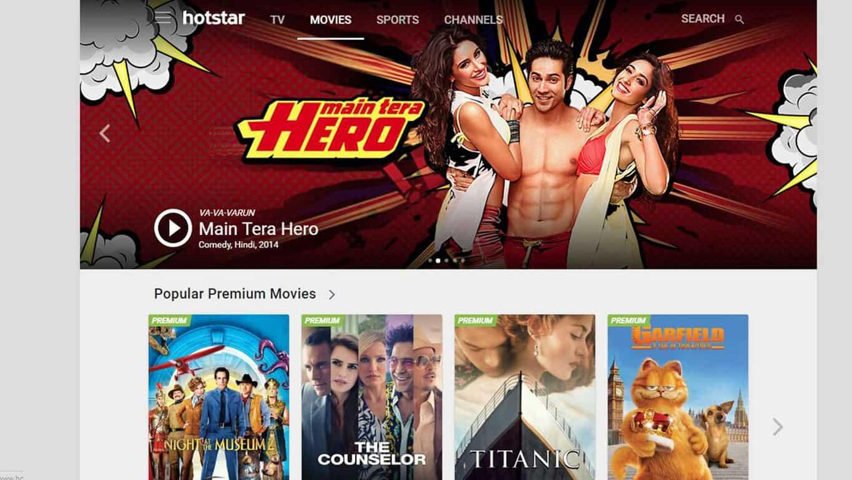 Hotstar app on Windows 10