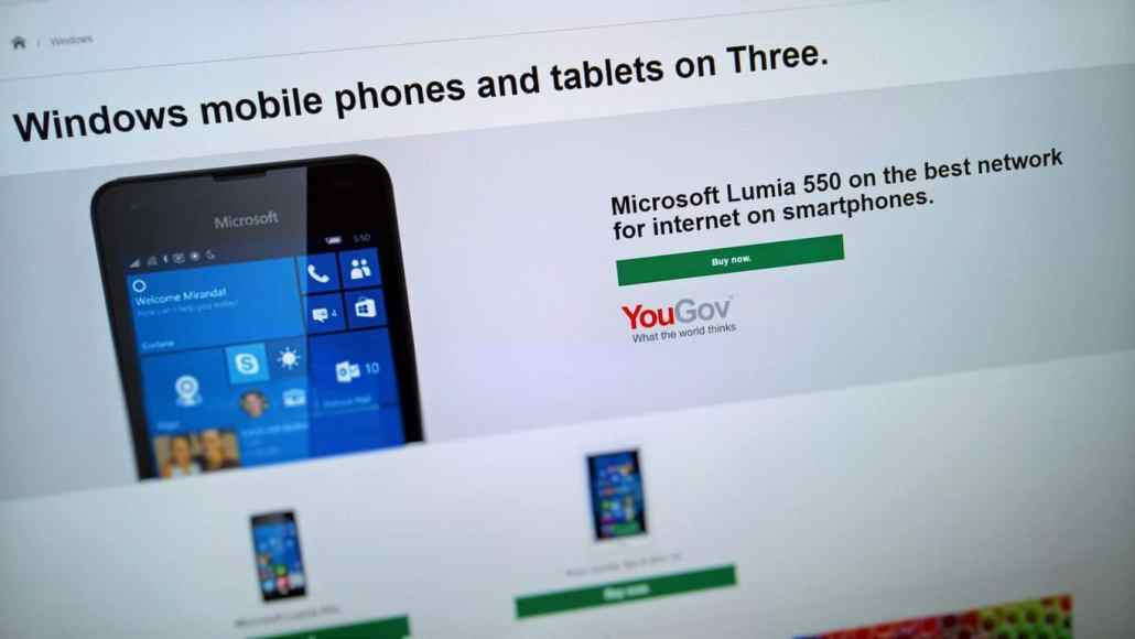 Three UK begins supporting Windows 10 Mobile more, now promoting