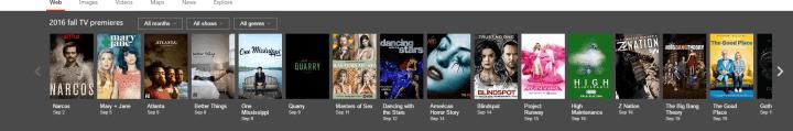 Bing Fall TV show listings