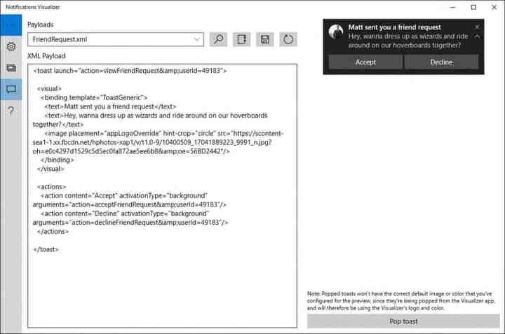 Notifications Visualizer, developer