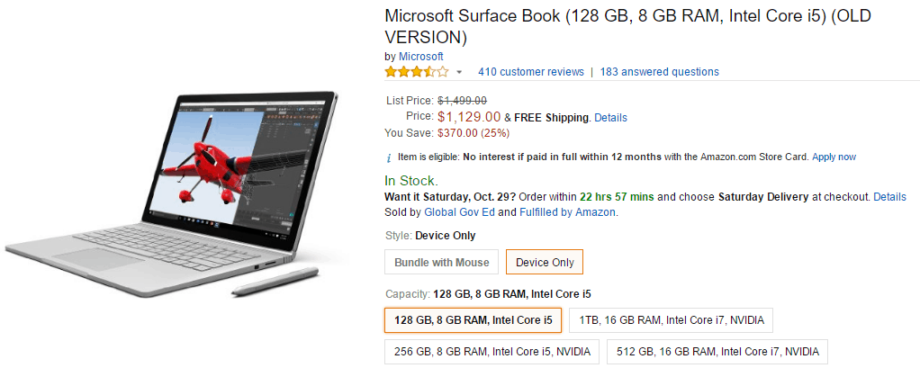 Microsoft Surface Book Amazon