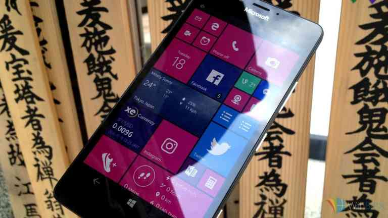 Lumia 950 running Windows 10 Mobile in Tokyo, Japan
