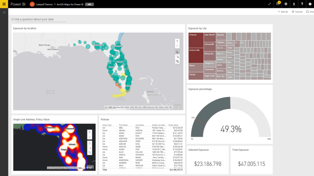 ArcGIS Maps for Power BI