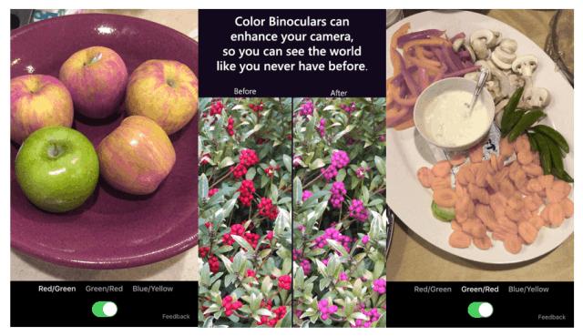 Color Binoculars camera filter