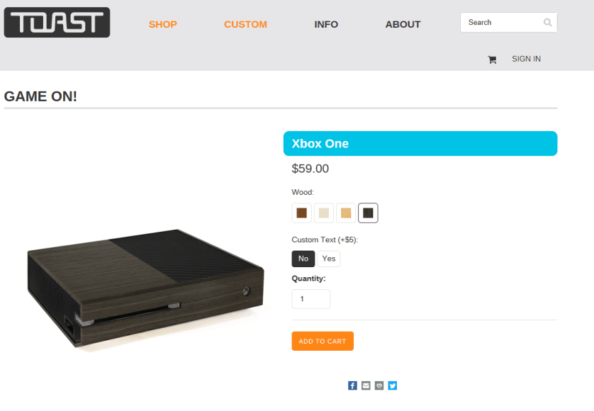 Xbox One wooden cover