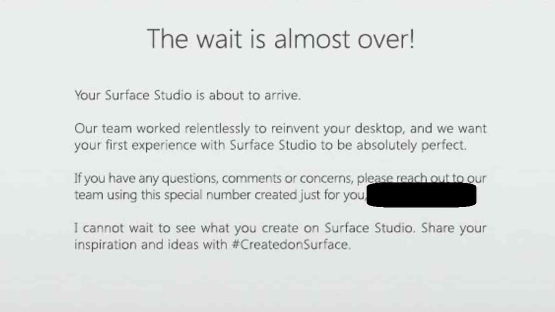 Surface Studio Email