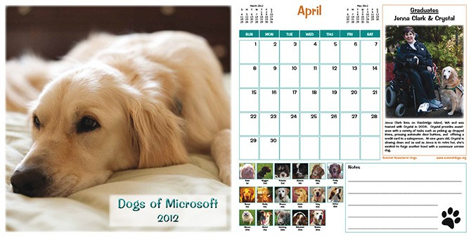 Microsoft's Cats, Dogs of Microsoft calendars are popular