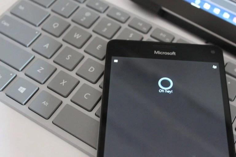 Hi Cortana on Lumia 950 XL Windows Phone