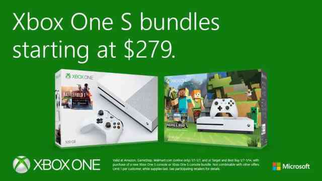 Xbox One S prices drop even more, 500GB model now $279