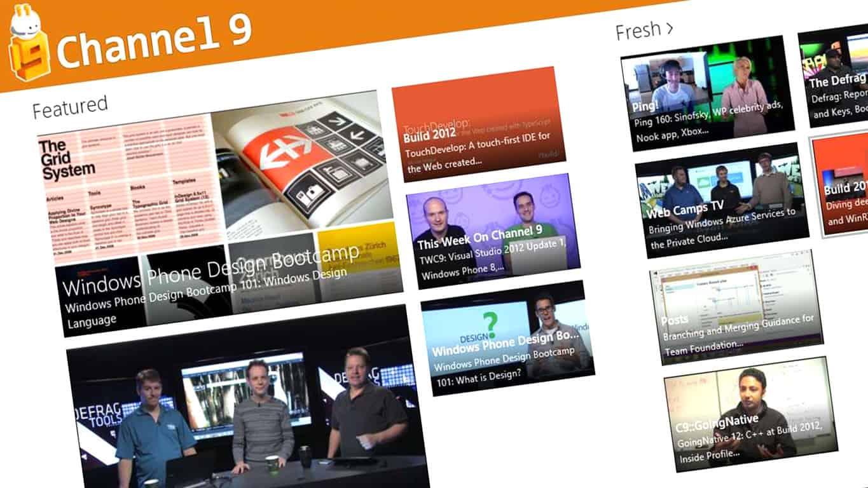 Channel 9 Windows 10 App