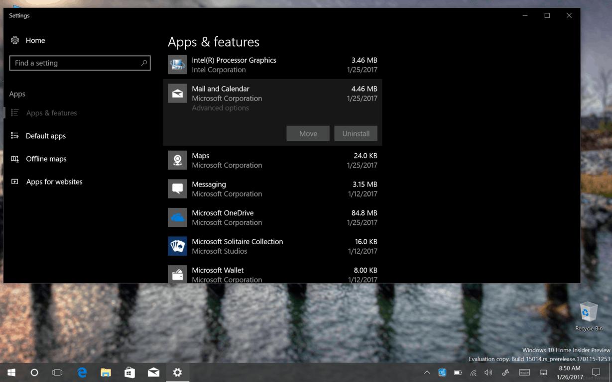 Uninstall stock Windows 10 Apps no more