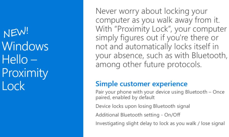 Windows 10 Proximity Lock