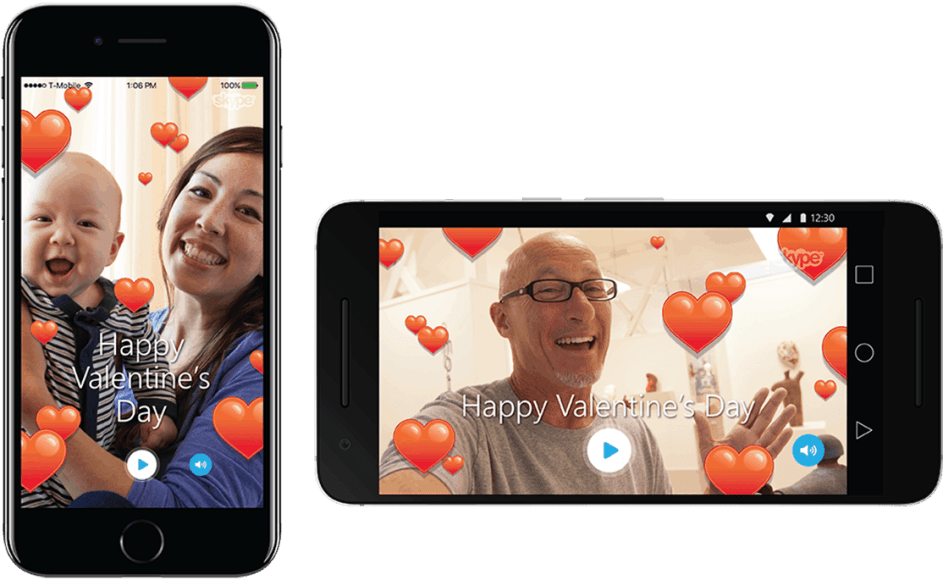 Valentine's Day Skype mojis