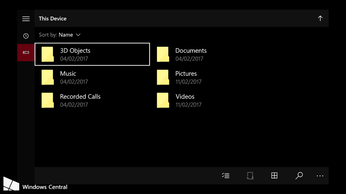 Xbox One UWP File Explorer from Windows 10 Mobile