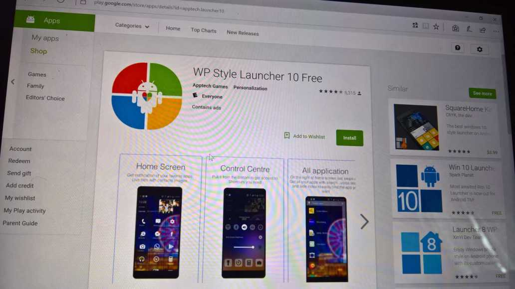 Microsoft, Android app launchers, Windows 10 Mobile
