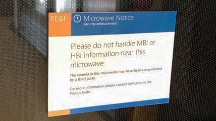 Microsoft Microwave notice