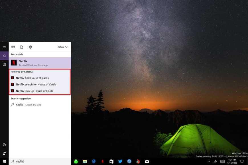 Microsoft, Netflix, Cortana, Windows 10