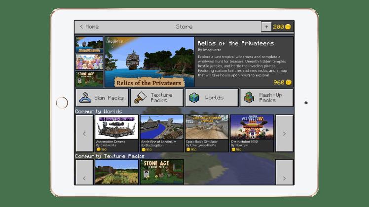 Minecraft Marketplace iPad