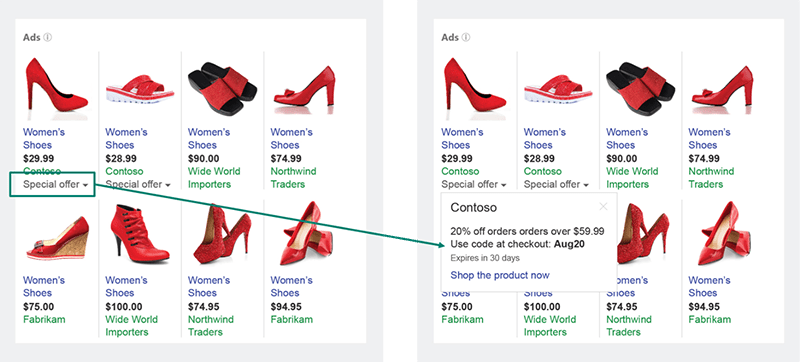 Bing Ads Merchant Promotions