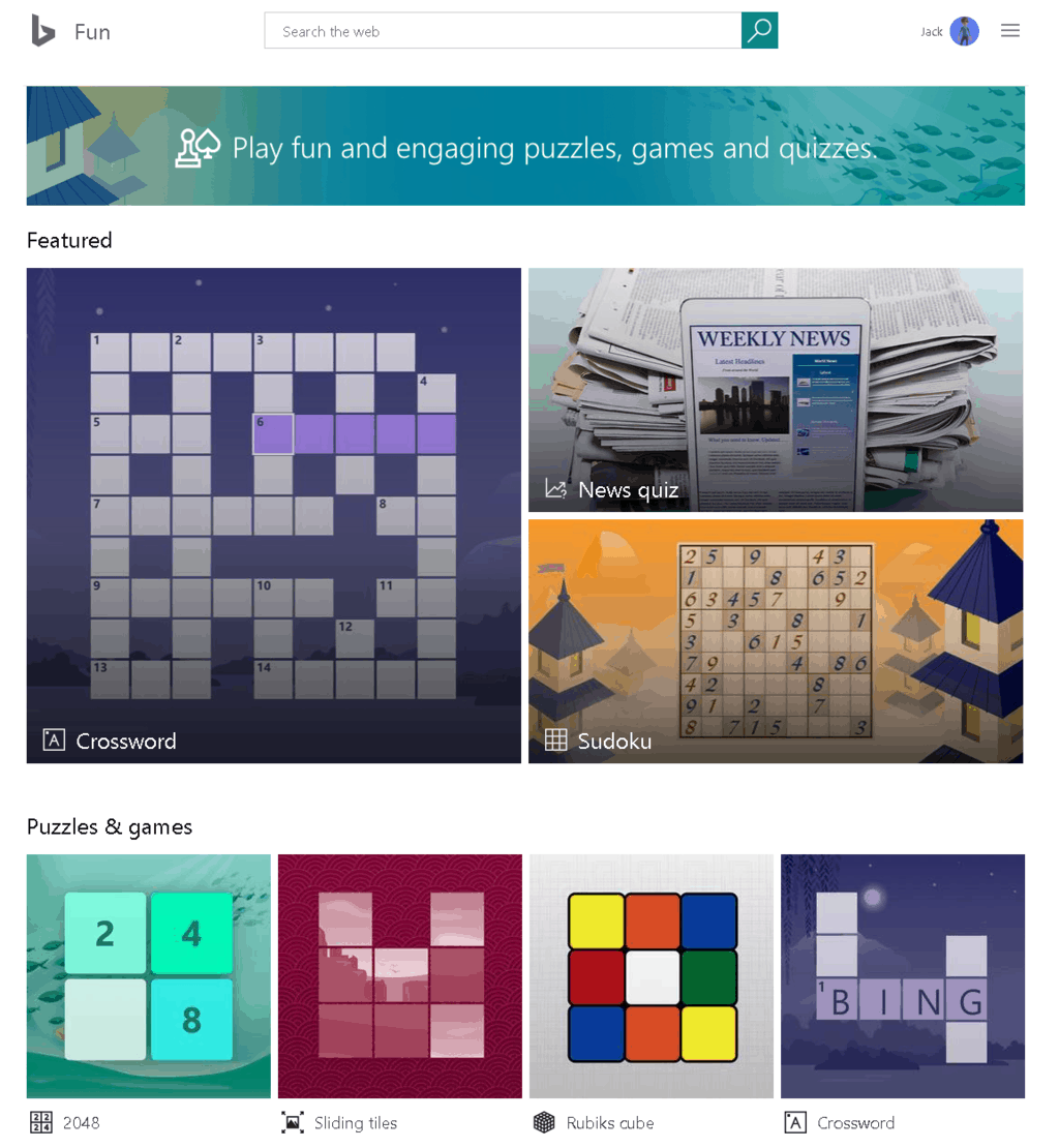 Bing's Fun And Games Now Available In The UK » OnMSFT.com