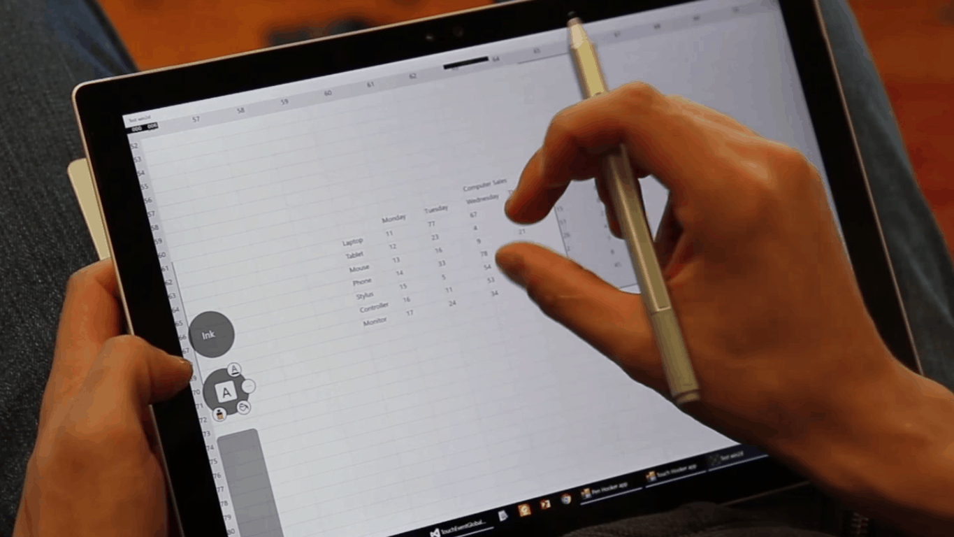 Microsoft Research - Pen and Thumb interaction on Windows 10 tablets