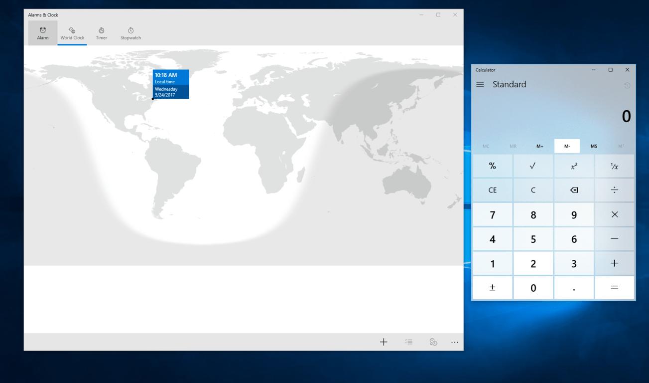 Non-Insider versions of Windows 10 Calculator, Alarm & Clock