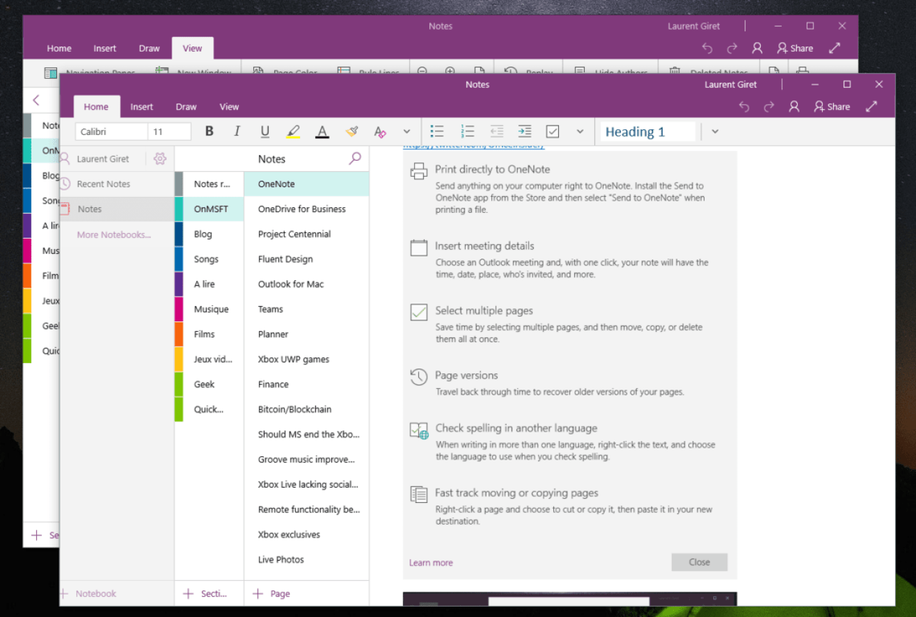 OneNote Windows 10 Store app gets a significant May update