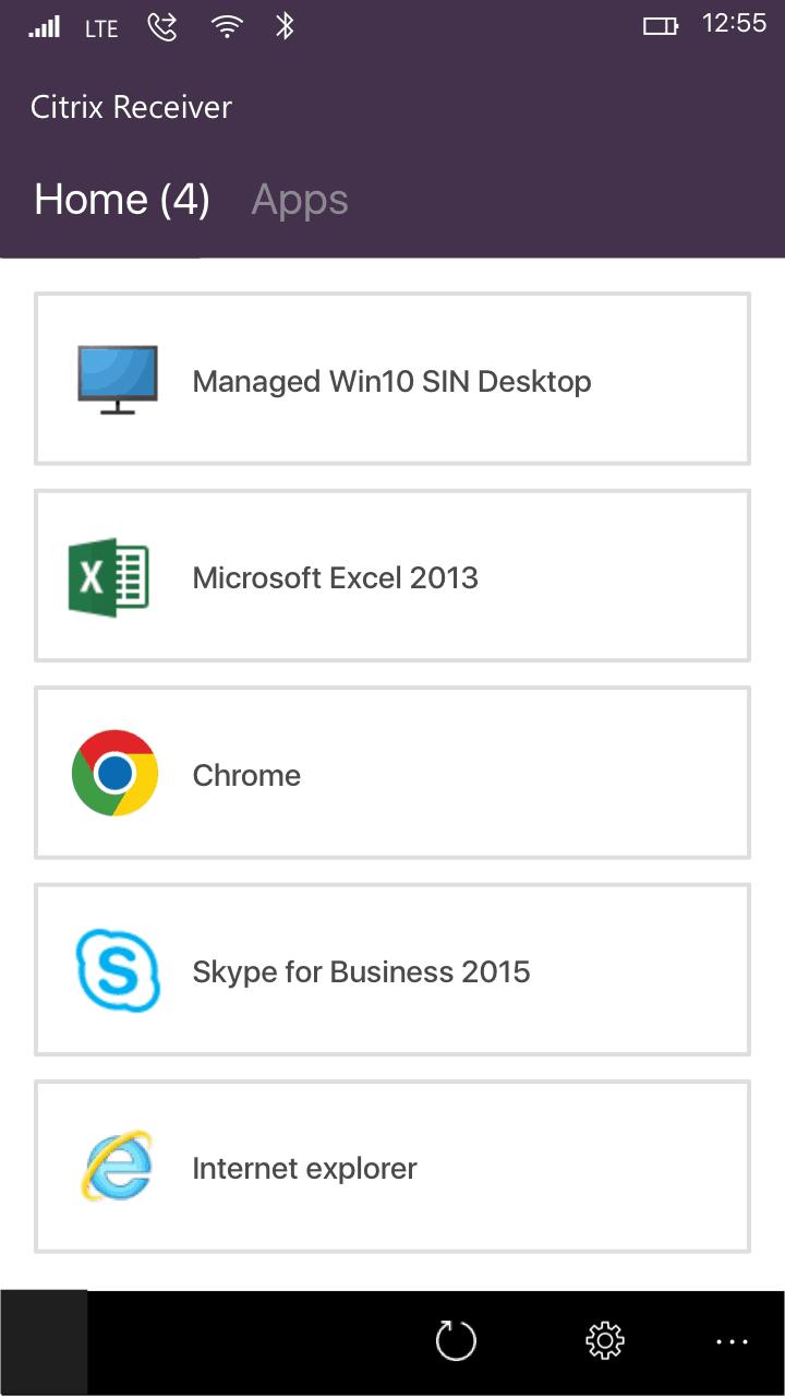 Citrix Receiver Windows 10 Mobile