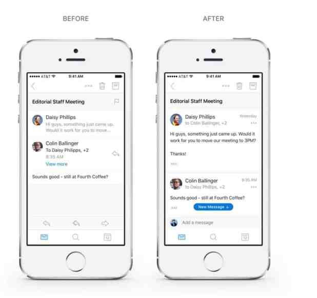 The redesigned conversation experience