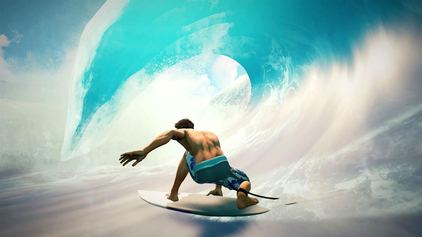 Surf World Series video game on Xbox One