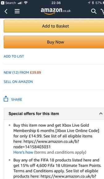 FIFA 18 Amazon