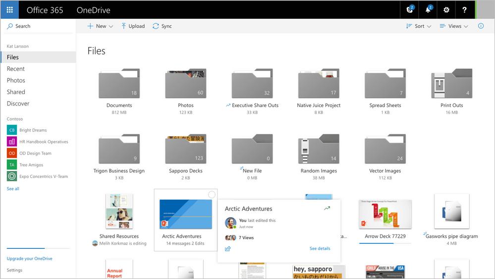 New OneDrive UI