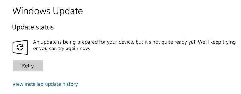 Windows 10 Insider 16288 not ready