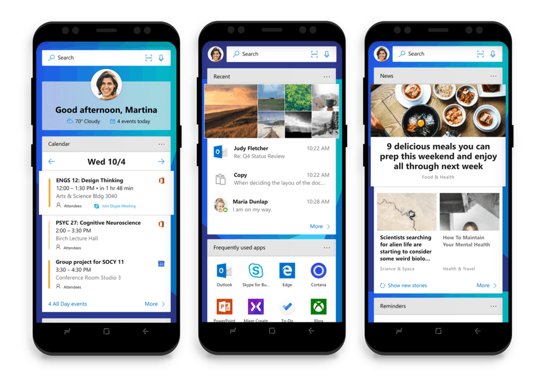 Microsoft Launcher leverages Digital Health features in