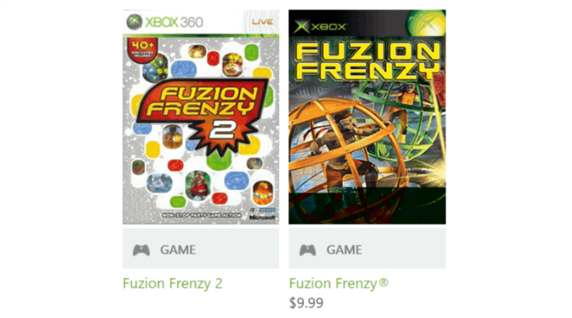Original Xbox game Fuzion Frenzy