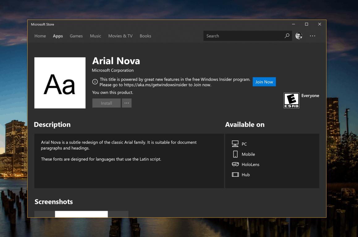 Free Microsoft Fonts