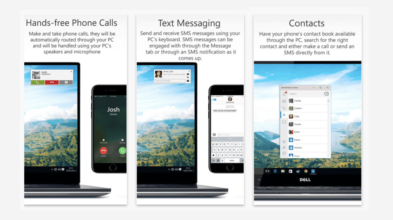 Dell Mobile Connect will sync text messages and phone calls