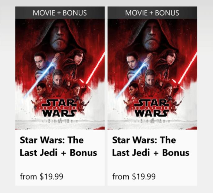 The Last Jedi duplicate listings