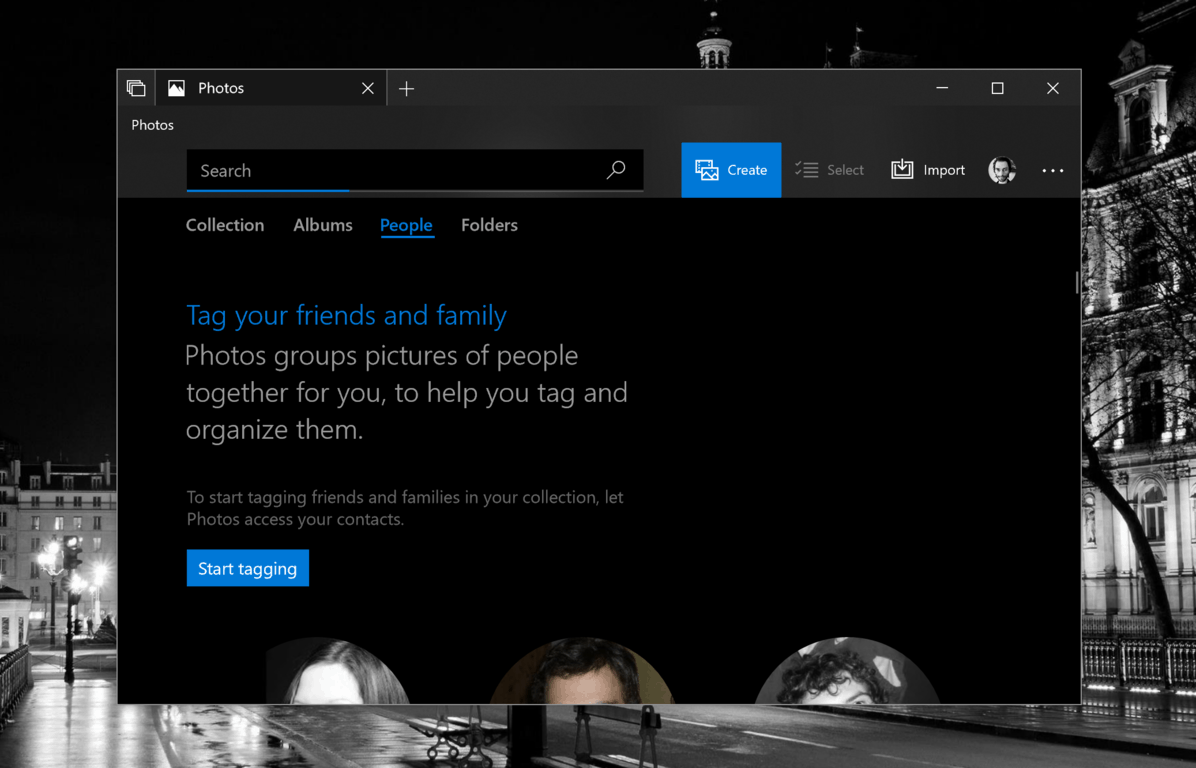 Windows 10 Photos app now lets you tag your friends and family